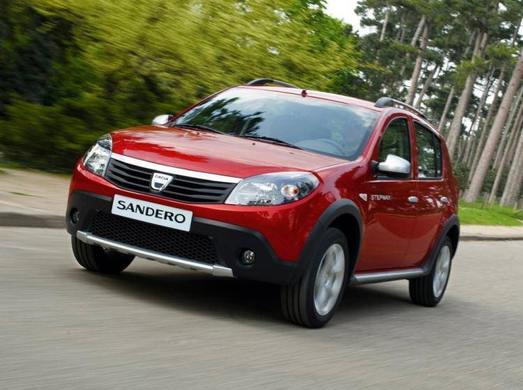 Фото Dacia Sandero I - конкурент MINI Hatch R56